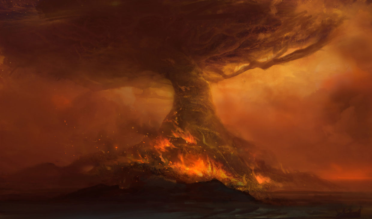 World_of_Warcraft_Battle_for_Azeroth_Teldrassil_Burns